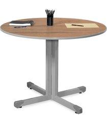 mesa reunião redonda 1,00 castanho giobel marrom