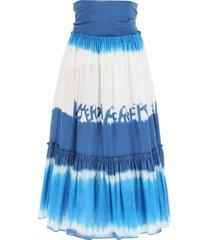 alberta ferretti i love summer tie-dye long skirt