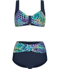 bikini maritim marinblå::lila::turkos