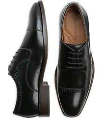 johnston & murphy sanborn black cap toe derbys