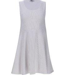 vestido lineas color blanco, talla xs