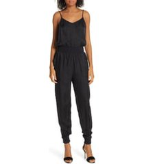 women's cinq a sept amia twill jumpsuit, size x-large - black