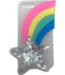 sarina accessories rainbow silicone case for iphone 7 plus, iphone 8 plus