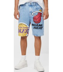 nba denim bermudashort