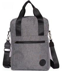 mochila gris oscuro palermo chaco
