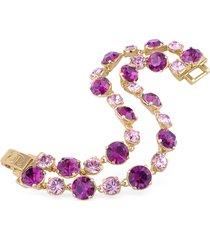 az collection designer bracelets, pink and amethyst gold plated bracelet