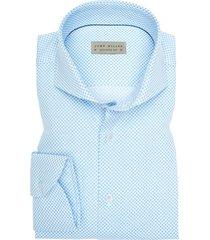 john miller mouwlengte 7 shirt lichtblauw motief
