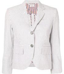 thom browne half-lined seersucker sport coat - grey