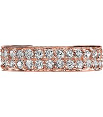 18k rose gold double row diamond ear cuff
