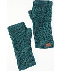 guantes sin dedos azul humana