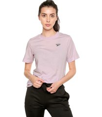 camiseta lila reebok essentials easy