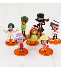 tgq anime 7pcs/set 5-9cm one piece cute mini action figure collectible toys