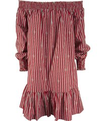 michael kors sailor knot crimson - short cotton dress
