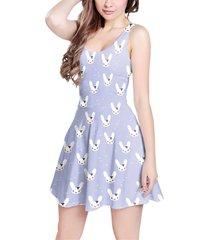 bunny bow lilac sleeveless dress
