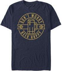 fifth sun men's beer happy short sleeve crew t-shirt