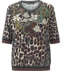 shirt met ronde hals en korte mouwen van betty barclay multicolour