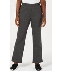 karen scott fleece pants, created for macy's