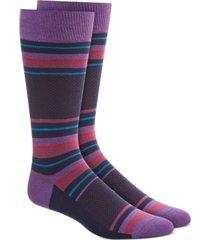 alfani men's pique blocked stripe socks, created for macy's