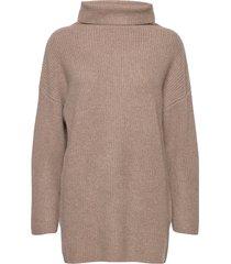 over d rib sweater turtleneck coltrui bruin davida cashmere