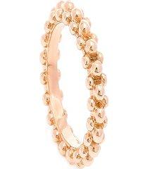 anel athos microesferas semijoia banho de ouro rosê