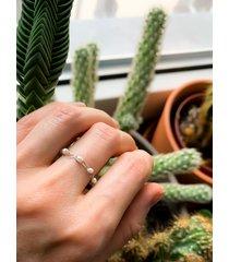 pierścionek minimalny-industrialny.perły