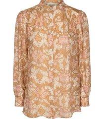 blouse met print mollie  beige