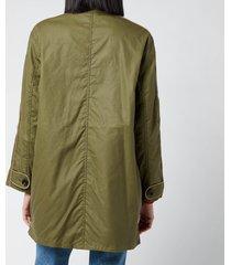 barbour x alexa chung women's cyril wax jacket - golden khaki/ancient - uk 14