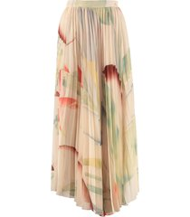 etro printed pleated skirt