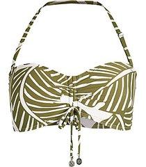 tropical-print bikini top