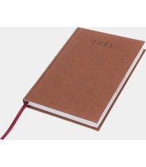 kalendarz 2021 brązowy (gładki, bez nadruku)