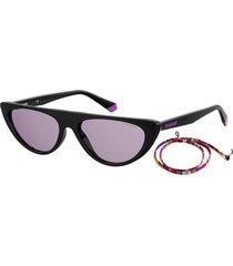 gafas polaroid policarbonato negro mujer