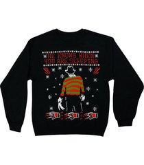 nightmare on elm street freddy x-mas christmas sleeping mens sweater 72-198