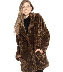 abrigo privilege marrón - calce regular