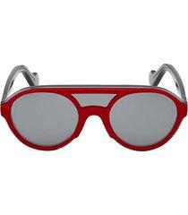 51mm injected double bridge round sunglasses
