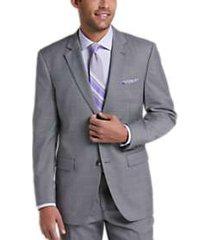perry ellis premium light gray sharkskin slim fit tech suit