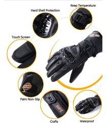 guantes suomy impermeables para moto - negro
