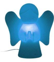 abajur luminária de mesa para bebê infantil bivolt anjinho - azul