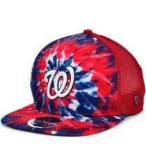new era washington nationals tie dye mesh back 9fifty cap