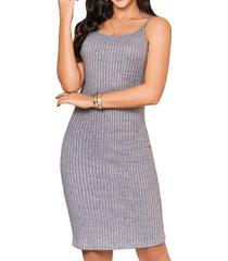 vestido andrea gris para mujer croydon