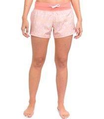hurley juniors' floral-print shorts