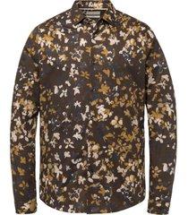 overhemd print bruin