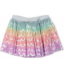 stella mccartney multicolour metallic skirt