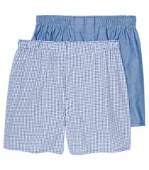 jos. a. bank check & solid woven boxers, 2-pack