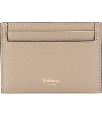 mulberry continental card holder - grey