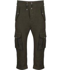 balmain jersey cargo pants