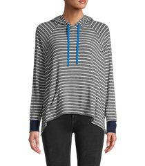 santos striped hoodie