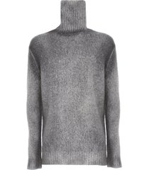 avant toi high neck brushed bio cotton blend pullover