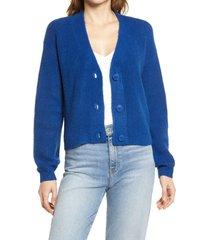 women's halogen rib cardigan, size xx-small - blue