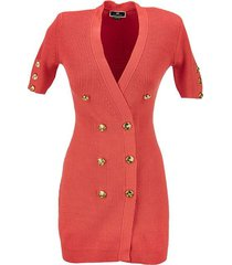 mini coat dress in knit fabric