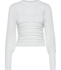 orielle knitted puff sleev top blouse lange mouwen wit french connection